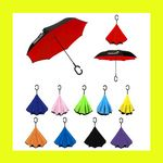 Custom Deluxe Inverted Reverse Rain Umbrella - IN STOCK NOW!!!