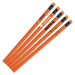 Custom Neon Orange Painted Pencils