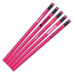 Custom Neon Pink Painted Pencils