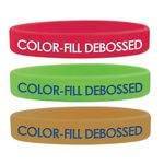 Custom Debossed Color Fill Silicone Wristband
