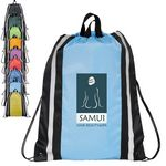 Reflective Polyester Drawstring Backpack