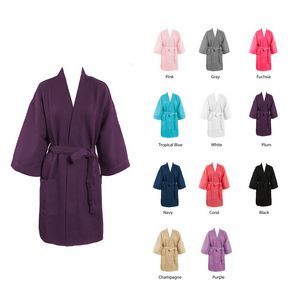 9eafaabfb1 Knee length Waffle Spa Short Robes - WBR12 - IdeaStage Promotional Products