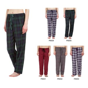 Custom Women's Classic Plaid Pajama Pants, Sleepwear, Lounge Wear