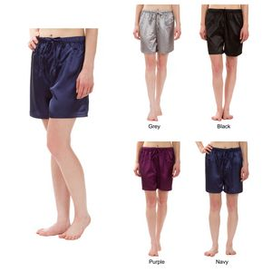 Custom Women's Stretch Silky Satin Pajama Boxer Shorts, Sleepwear, Lounge Wear