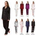 Custom Women's Stretch Silky Satin Pajama Sets, Sleepwear, Lounge Wear