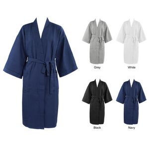 Custom Men's Spa Waffle Knit Shawl Collar Robe