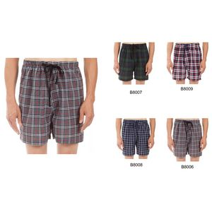 Custom Men's Classic Plaid Pajama Boxer Shorts, Sleepwear