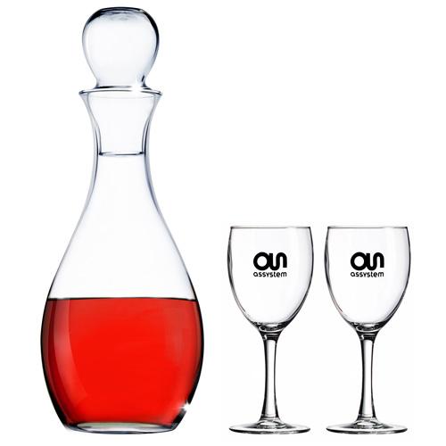 Elegance Selection Set w/Decanter & 2 Wine Glasses, , ELEGANCESET, One Colour Imprint