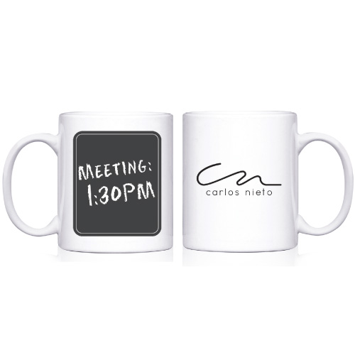 11 Oz. Chalk Board Mug, 3.25