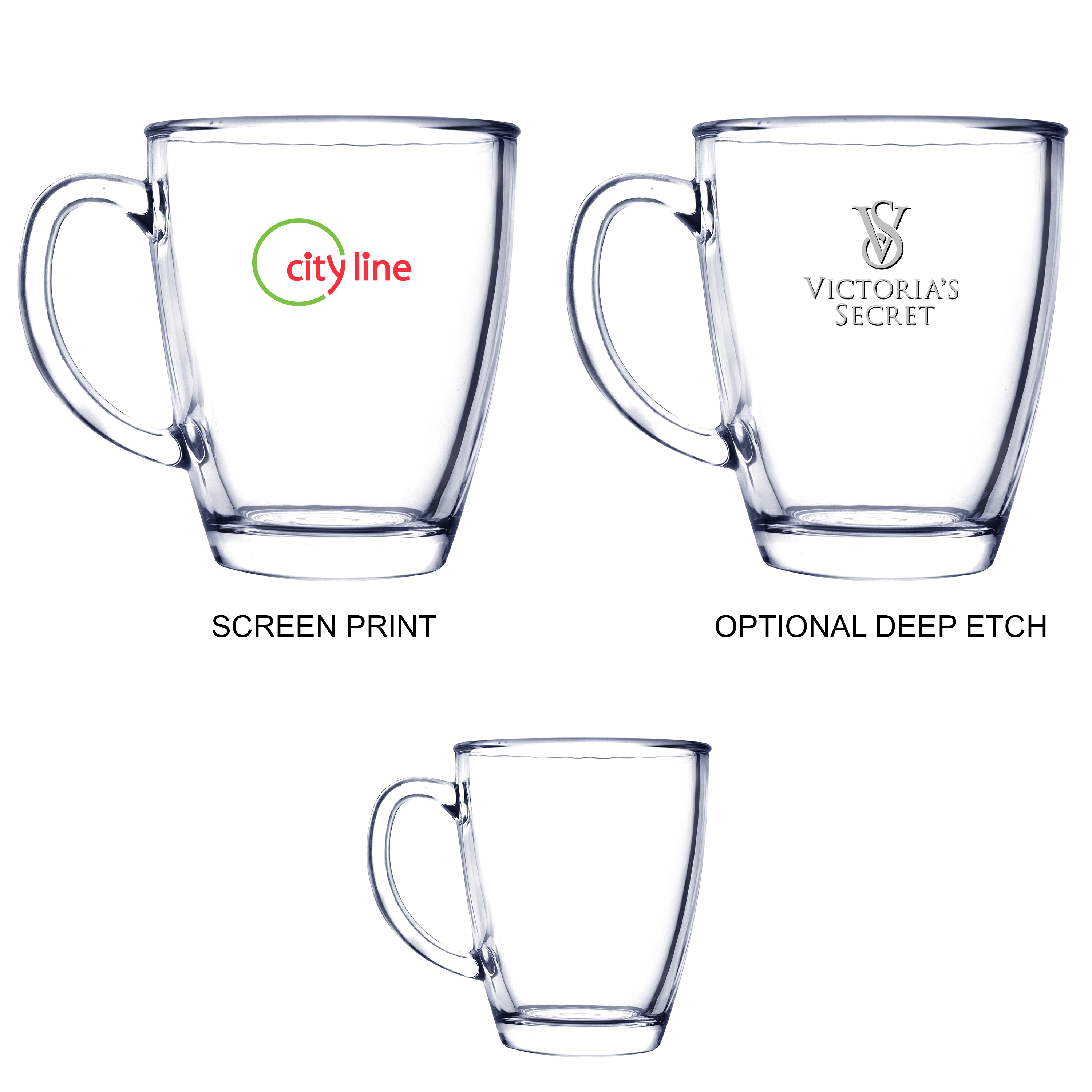 12 Oz. Glass Coffee Mug, 3.5