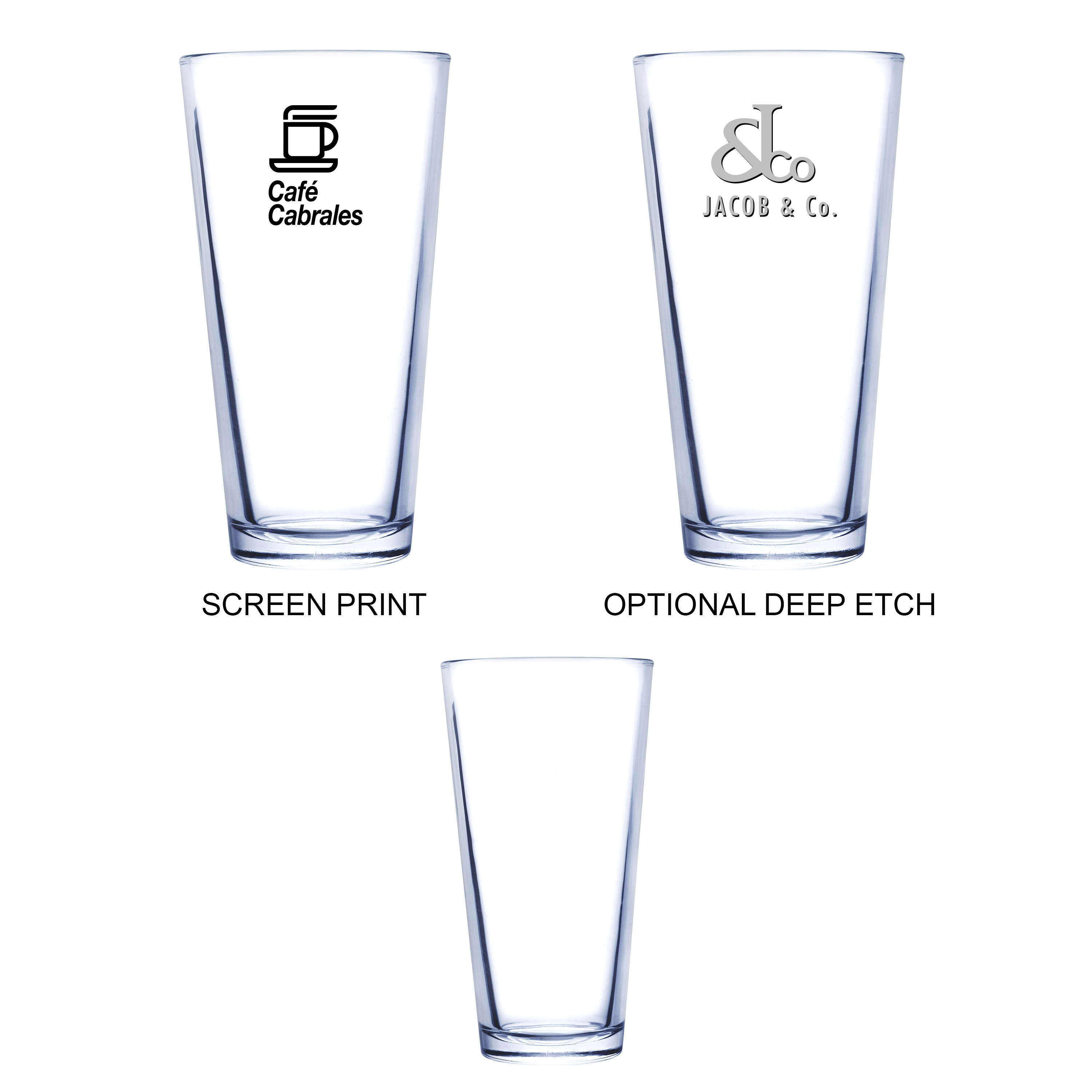 20 Oz. Pilsner Selection Pint Glass, 3.5