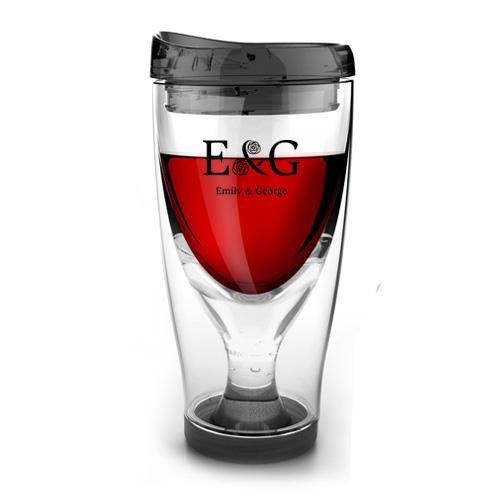 Chill Vino 2-Go Wine Tumbler, 3.5