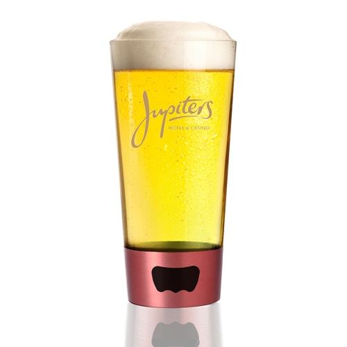 16 Oz. Pint Glass w/Integrated Dual Opener, 3.5