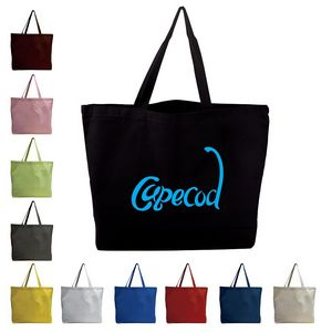 Canvas Jumbo Tote w  Bottom Gusset - TB600-C - IdeaStage Promotional  Products e5a05f915d1f0