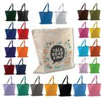 Custom Canvas Promotional Tote Bag - Printed