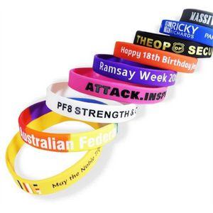 Custom Made Rubber Wrist Bands!