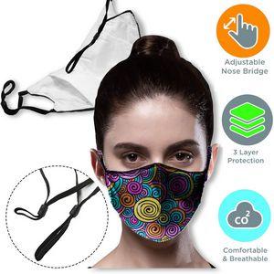 3 layer Face Mask w/ Filter Pocket & Adjustable Loop masks