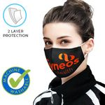 Custom 2 Layer Reusable Safety Face Mask w/ Full Color Custom Logo