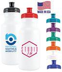 Bike Bottle USA made - 20 Oz. Plastic Bike Bottle w/Push Spout