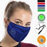 Custom Performance 3 Layers Face Mask w/ Nose Bridge, adjuster loop