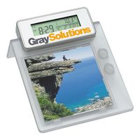 Multifunction Desktop Photo Frame with Pen Holder and LCD Al