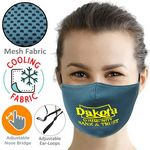 3-Layer Cooling Face Mask w/Screen Print Antibacterial Masks