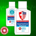 Custom 60 ml Antibacterial Hand Sanitizer w/Custom Imprint