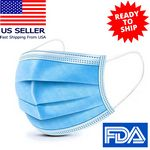 Custom IN STOCK USA Disposable 3 Ply Face Mask Antibacterial Masks
