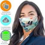 Custom Full Color 4 Layer cloth with Adjustable Safety Face Mask
