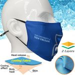 Cooling 2 Layer Face Mask for Summer, Breathable Face Masks