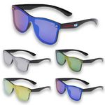Mirrored metallic accent Sunglasses UV protection Sun glass