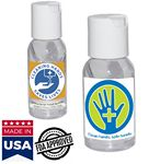 Custom 1 Oz. USA Made Hand Sanitizer Gel Bottle Antibacterial