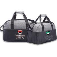 Two-Tone Classic Duffel Bag w/ Shoulder Strap