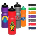 Custom 28 oz Larger Push Cap Plastic Water Bottle sports drinkware