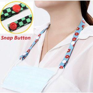 3/4 Full Color Mask Lanyard w/Snap Button Adjustable Holder