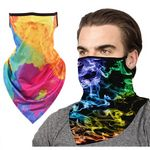 Custom Full Color Face Bandana mask Reusable Tube w/ Ear Loop