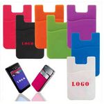 Custom Silicone Phone Wallet. Soft adhesive card holder sleeve