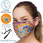 Custom 2-Layer Safety Face Mask w/Custom Logo & Adjustable Ear Loop