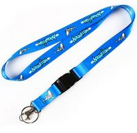 5/8 inch Soft Dye Sublimation Lanyard w/Buckle Release