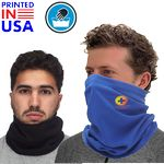 Polyester Neck Gaiter w/ Full Color Logo Safety Face Bandana