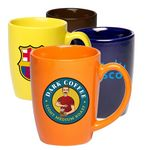 Custom 12 oz Coffee Mug w/ Custom Imprint Glossy Mugs Curved Grip