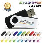 Custom 1 GB Plastic Swivel USB Flash Drive w/ Metal Swivel Cover