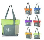Custom Two-tone Polyester Zippered Tote Bag