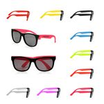 Two Tone Plastic Sunglasses w/UV Protection