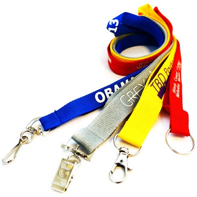 "Economy Custom Polyester Lanyards 3/4"" (20 mm) Wide"