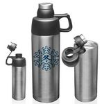 18 Oz. Silver Sports Insulated Bottle Vacuum Steel Flask