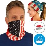 RUSH USA Printed Neck Gaiter Full Color Face Bandana Masks