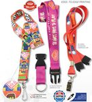 Custom Full Color Lanyards - 7 DAYS Delivered 3/4