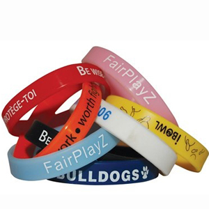 Custom Printed Rubber Wrist Bands
