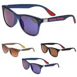 UV Sunglass Metal accent Sun glass w/ Matte finish